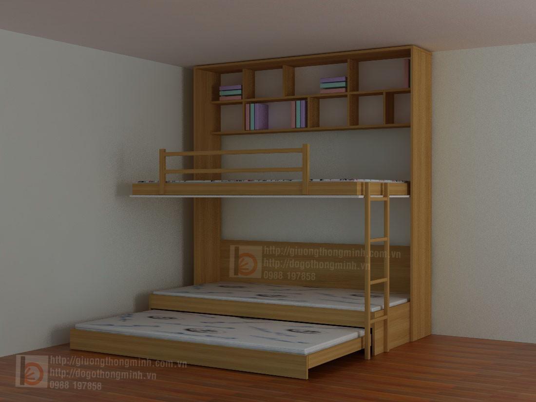 Giường 3 tầng thông minh