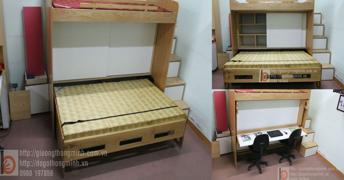 giường thông minh cho phòng nhỏ