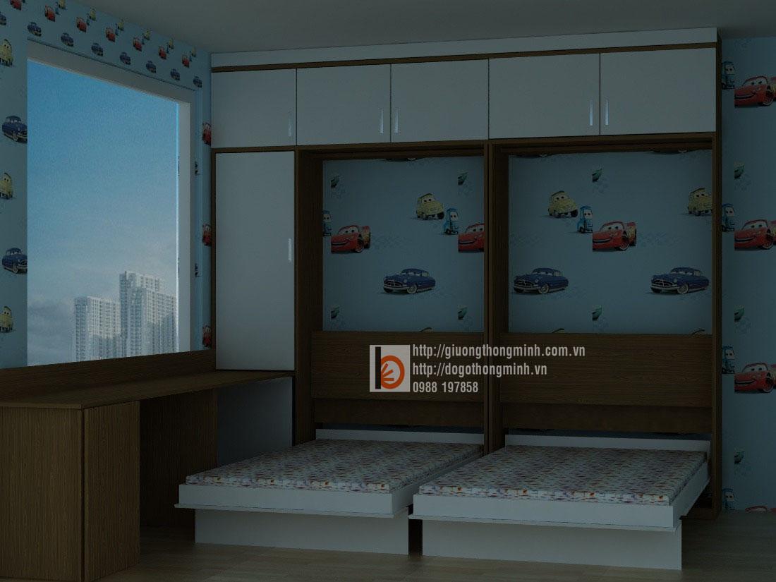giường đôi thông minh