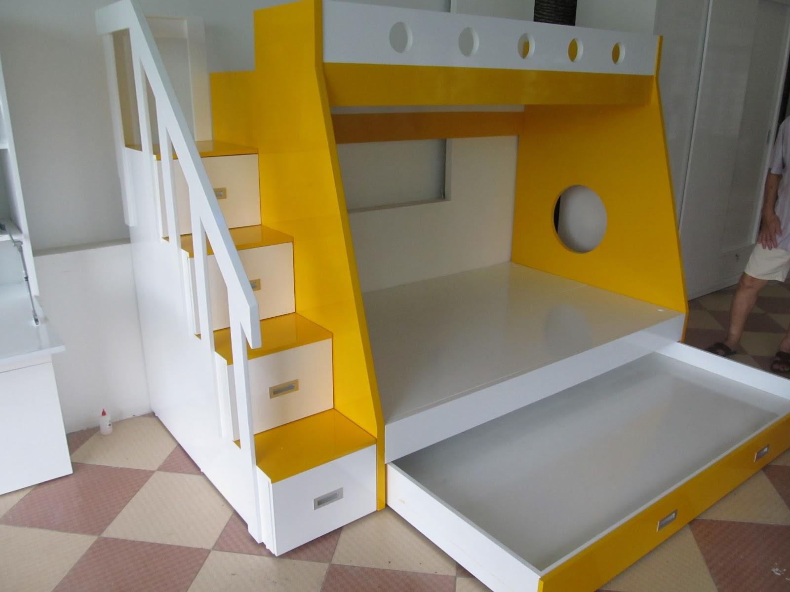 mẫu giường tầng gỗ đẹp