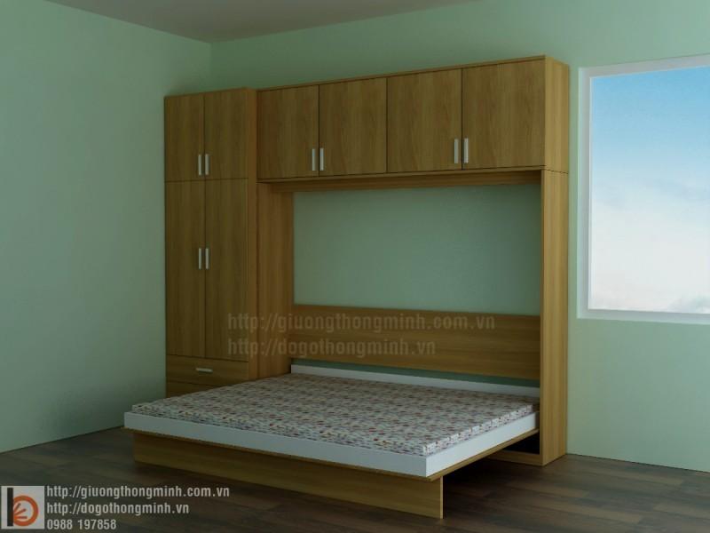 giường gấp gỗ thông minh