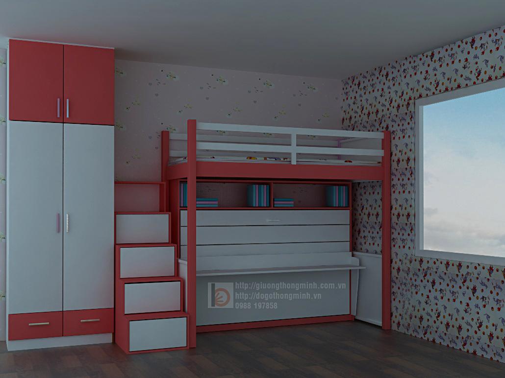 Giường ngủ thông minh cho bé, giường tầng thông minh Ảnh 3